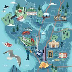 Jasmijn Evans - Map of Seattle