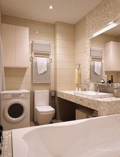 Типичная для квартиры ванная. Ванная