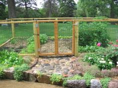 Veggie garden fence idea.