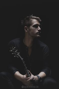 Calvin Locke 2 by Derek Heisler, via Studio Portrait Photography, Musician Photography, Photography Poses For Men, Studio Portraits, Aerial Photography, Guitar Photos, Men Photoshoot, Band Photos, Music Photo