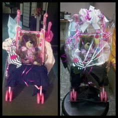 Lil mama cute baby shower gift baby shower stuff pinterest stroller gift basket for one year old girl keiscreations negle Gallery