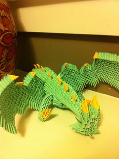 Origami Dragon | 3D Origami Dragon by Waddlesthepenguin on deviantART