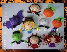 Hola, estos lindos diseños de caritas de Halloween fueron usados para adornar unos colgantes para picaportes que mi clienta regalara a sus ...