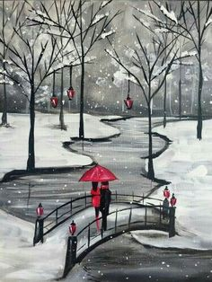 Join us for a Paint Nite event Wed Nov 2017 at 101 East Columbia Way Vancouv. - Duvar kağıtları,wallpaper - Join us for a Paint Nite event Wed Nov 2017 at 101 East Columbia Way Vancouver, WA. Pencil Art Drawings, Art Drawings Sketches, Red Umbrella, Winter Painting, Christmas Paintings, Pictures To Paint, Painting Inspiration, Painting & Drawing, Diy Painting