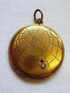Spider and web locket