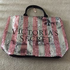 Brand new VS bag Brand new bag with pink and silver sequins! Victoria's Secret Bags Totes
