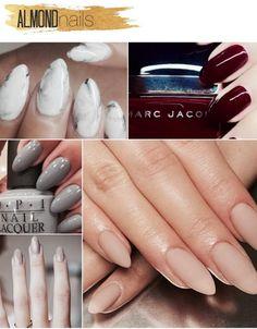 super tendencias para as unhas almond nails