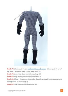 Amigurumi Tutorial, Amigurumi Patterns, Amigurumi Doll, Doll Patterns, Crochet Doll Pattern, Crochet Dolls, Crochet Patterns, Batman Free, Amigurumi For Beginners