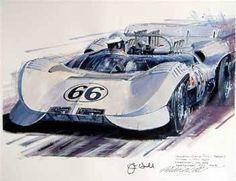 Chaparral Sports Car Racing, Sport Cars, Race Cars, Auto Racing, Motor Sport, Vintage Race Car, Vintage Bikes, Le Mans, Automobile