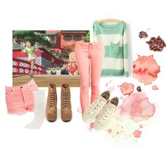 Spirited away inspired outfit. Put together by me on Polyvore