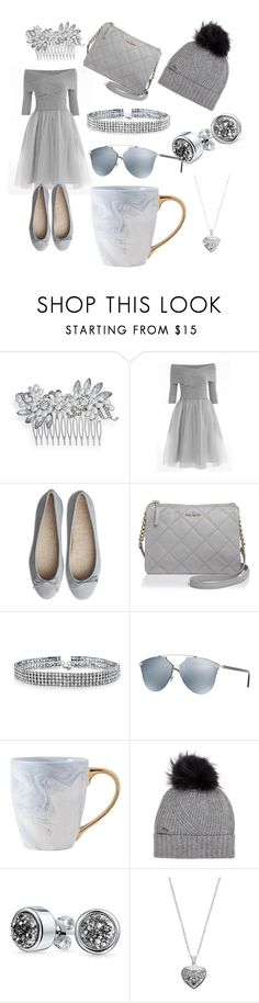 """Fifty Shades of Grey"" by katrinalester123 ❤ liked on Polyvore featuring Crystal Allure, Kate Spade, Bling Jewelry, Christian Dior, Woolrich and Silver Expressions by LArocks"