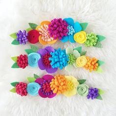 Items similar to Felt Flower crown // Rainbow Headband // Baker Blossoms on Etsy Handmade Felt, Handmade Flowers, Handmade Crafts, Rainbow Headband, Felt Headband, Headbands, Felt Flowers, Fabric Flowers, Paper Flowers