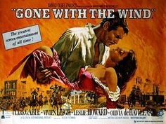 "The most famous film of the period was ""Gone with the Wind"" with actor Clark Gable and actress Vivien Leigh. Description from eslseveneight.blogspot.co.uk. I searched for this on bing.com/images"