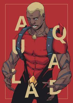 """""""Kaldur'ahm in Teen Titans """" Aquaman Dc Comics, Dc Comics Art, Batman Universe, Comics Universe, Aqualad Young Justice, Comic Book Characters, Comic Books, Heavy Metal Comic, Black Comics"""