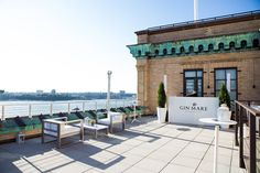 Gin Mare's Med Rooftops: The party featured branded lounge chairs and a DJ booth on the venue's rooftop, which offered guests views of downtown Manhattan and the Hudson River.