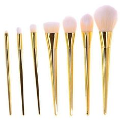 7Pcs Glossy Makeup Brush Sets 3 Color Choices
