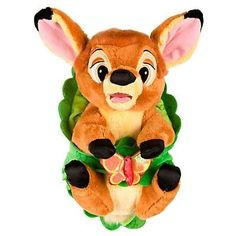 """disney parks 10"""" baby bambi plush toy with blanket new with tag"""