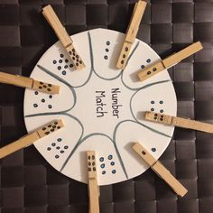 Easy to make number matching game for my smarty-pants preschoolers!