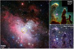 The Eagle Nebula Eagle Nebula, Star Show, Herschel, Eagles, Astronomy, Northern Lights, Space, Floor Space, Eagle