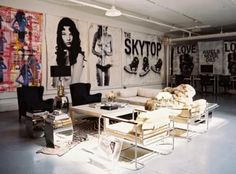amazing space. love the art.