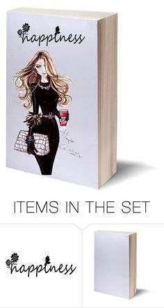 """""""happy"""" by sarabutterfly ❤ liked on Polyvore featuring art and diybookcover"""