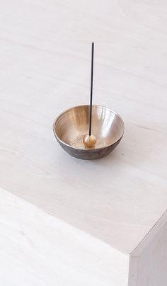 b2c3d1ebb012 Bronze Bowl with Brass Ball Incense Holder