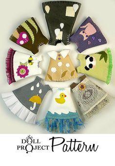 Poco muñeca vestidos Ropa patrones PDF Tutorial por DollProject