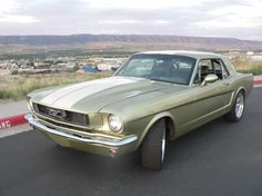 1966 Ford Mustang. My first car! It had a white top!!!