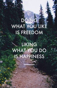 Doing what you like and liking what you do quote via Carol's Country Sunshine on Facebook