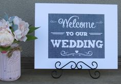https://www.tradesy.com/weddings/wedding-decorations/light-blue-denim-look-wedding-signs-will-be-perfect-for-a-burlap-lace-and-denim-wedding-2032004/ #welcometoourwedding #blue #bluewedding #bluethemedwedding #weddingdecor #denim #rustic #wedding #cute #classy #spring #springwedding