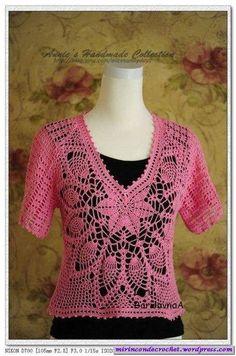 Una blusa muy bella�€�!!!!! « Mi Rincon de Crochet