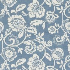 Eliza Curtain Fabric Chambray