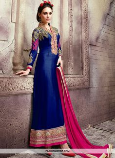 Long Anarkali Suits Online - Buy Long Anarkali Salwar Suits For Women In India - IndiaRush Designer Sarees Online, Designer Dresses, Designer Wear, Indian Dresses, Indian Outfits, Ethnic Outfits, Indian Attire, Indian Wear, Latest Salwar Kameez Designs