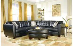Modern Sofa Luxurious Black, With Shiny Leather Sofa, For Decorating Your Living Room, On A Table With One Glass