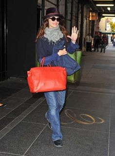 Julia Roberts seen leaving her hotel in New York City. - To get this look try FRANKiE4 ELLiE's in black. Amazingly comfortable for all day wearing.   http://frankie4.com.au/style/ellie-ii/ellie-ii-black