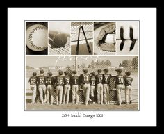 COACH is created using whimsical baseball themed Alphabet Art and combined with your personal photo for a unique Coach's gift. www.kathystanczak.ca