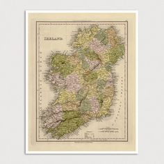 Hey, I found this really awesome Etsy listing at https://www.etsy.com/listing/254617094/old-ireland-map-art-print-1844-antique