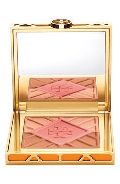 Blush + bronzer + highlighter + Tory Burch? What a combo!