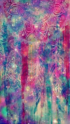 Grunge galaxy dreamcatcher wallpaper I created
