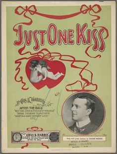 Just One Kiss - sheet music, 1900