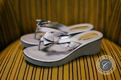 Silver bow bridal sandal wedge. #shoes #classicdigitalphotography https://classicdigitalphotography.com