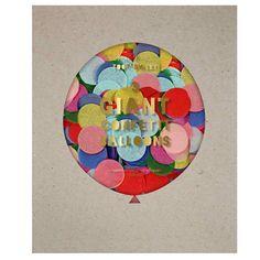 """Konfetti Ballon Kit Bunt: Wirkliche Riesige Konfetti Ballons mit schönem bunten, großen Konfetti. 3 Ballons.  Aus der Partyserie """"Toot Sweet2 von MeriMeri."""