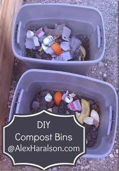 Happy, Healthy, & Domestic: DIY Compost Bins and Composting Tips