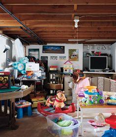 The Palutis family basement before makeover