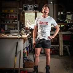 If your thighs could speak, we know what they'd ask for. Get your Stubbies now at www.stubbies.co.nz Real Man, Sporty, Mens Fashion, Kiwi, Thighs, Model, T Shirt, Stuff To Buy, Free