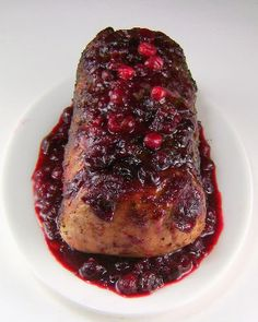 One Perfect Bite: Cranberry Glazed Pork Roast