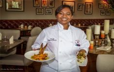 """An Indian American chef Aarthi Sampath, emerged as the winner of Food Network's """"Beat Bobby Flay."""" She had earlier won the reality-based cooking show, """"Chopped,""""."""