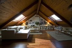 10 Bright Tips: Attic Apartment Cities rustic attic farmhouse style.Attic Door In Bedroom attic before and after lights.Old Attic Fireplaces. Attic Loft, Loft Room, Bedroom Loft, Attic Office, Skylight Bedroom, Attic Bed, Attic Ladder, Attic Window, Attic Apartment