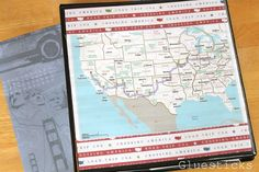 """road trip binder to set up for the kids.  I love the idea of laminating """"bingo"""" games and using sticky tabs as the markers!"""