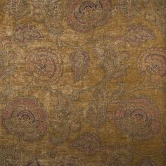 Kasmir Calvados Old Gold Fabric Paisley Fabric, Gold Fabric, Chenille Fabric, Yellow Fabric, Draped Fabric, Chair Fabric, Floral Fabric, Upholstery Fabrics, Gold Book